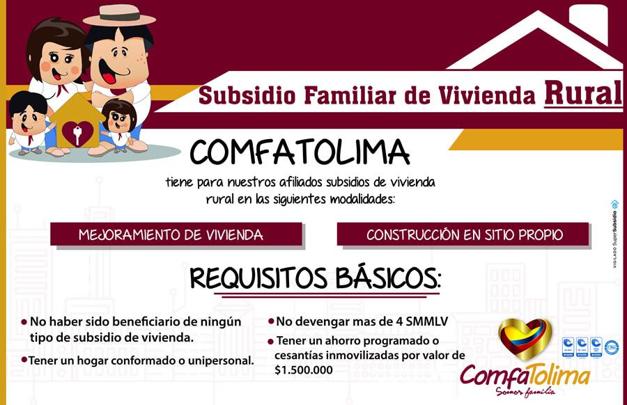 Requisitos subsidio familiar de vivienda Rural
