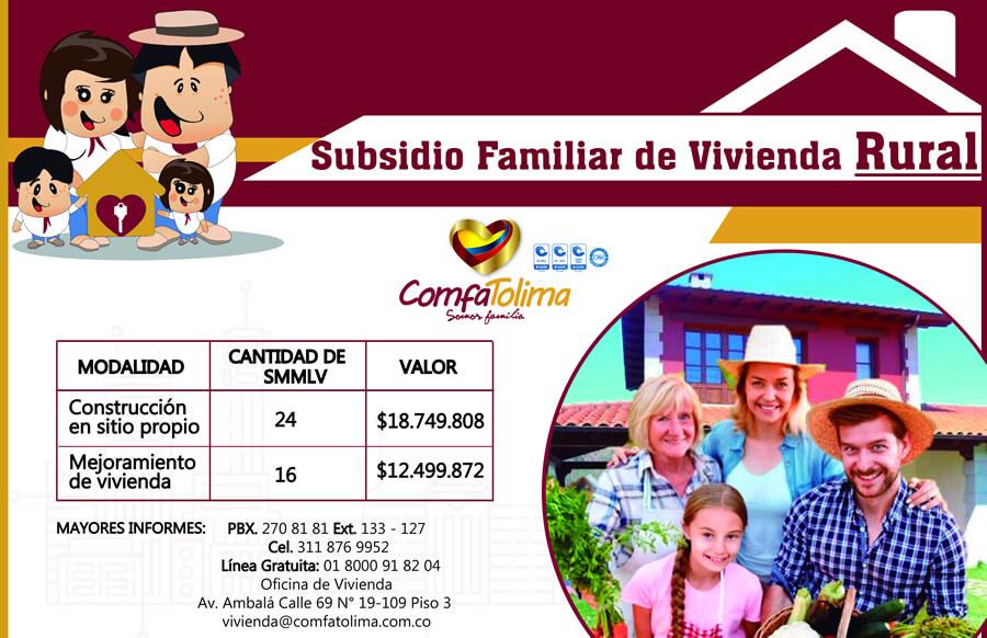 Subsidio familiar de vivienda rural