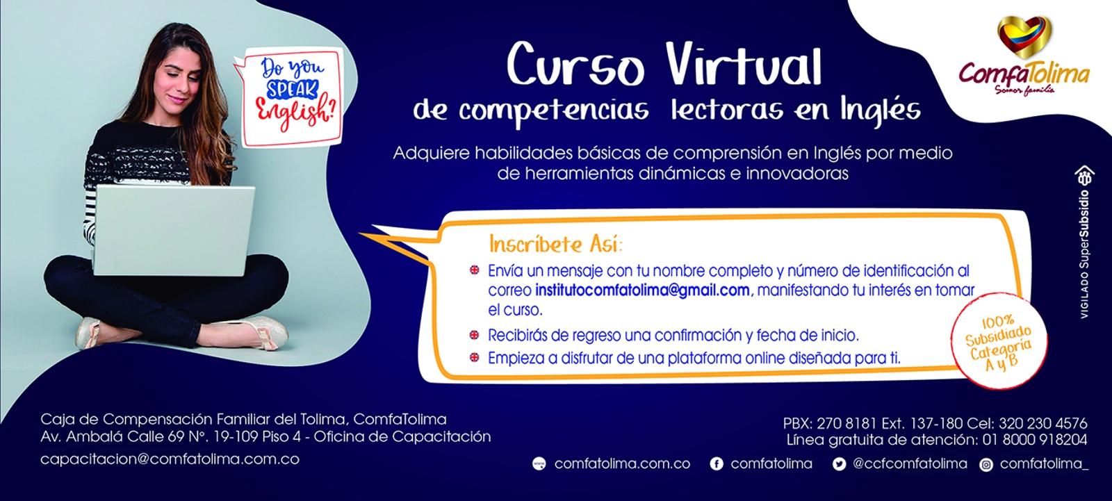 Curso virtual de competencias lectoras en inglés